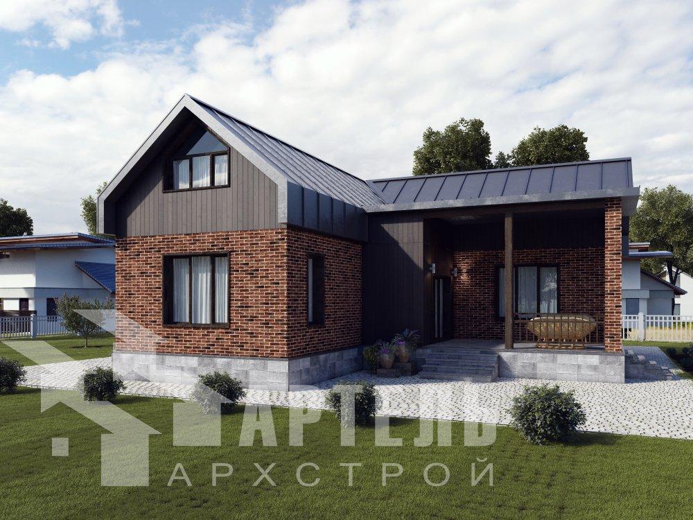 дом омбинированные дома, проект Вариант 14Т Камень и Комбинированный фотография 6360