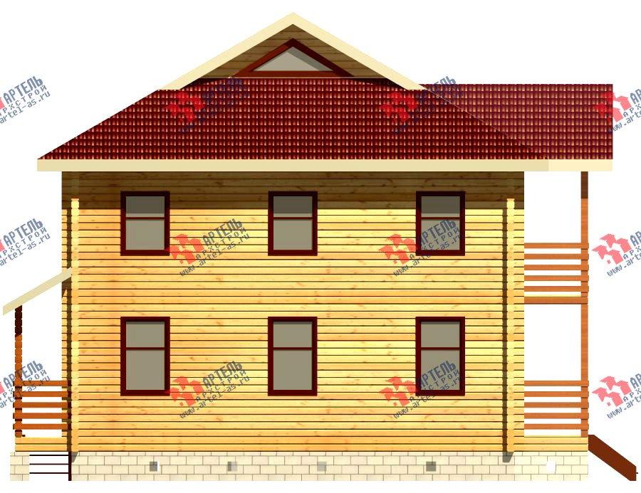 двухэтажный дом из профилированного бруса площадью свыше 200 кв. м. с  балконом, проект Вариант 9 Т фотография 417