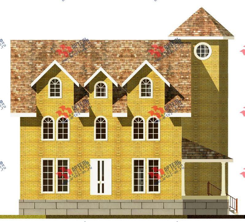 трёхэтажный дом из камня площадью свыше 200 кв. м. с  эркером, проект Вариант 20 фотография 645