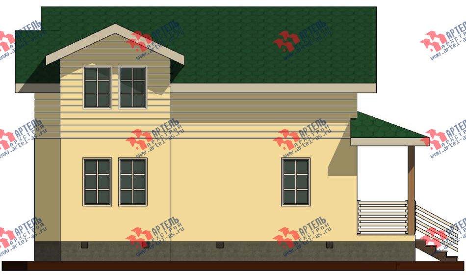 двухэтажный дом из профилированного бруса камерной сушки площадью от 100 до 150 кв. м. с  мансардой, проект Вариант 6 фотография 2789