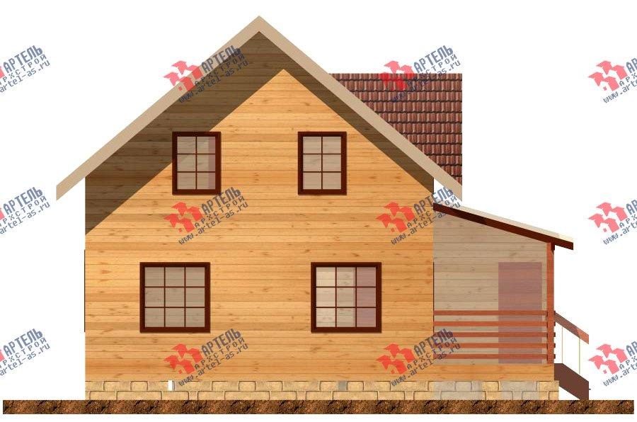 двухэтажный дом из профилированного бруса площадью от 100 до 150 кв. м. с  террасой, проект Вариант 7.2 А фотография 903