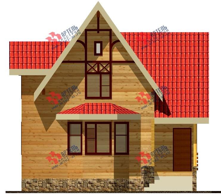 двухэтажный дом из бруса площадью от 100 до 150 кв. м. с  верандой, мансардой, эркером, проект Вариант 8.5 Г фотография 993