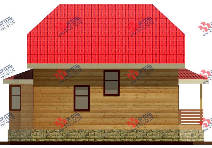 двухэтажный дом из бруса площадью от 100 до 150 кв. м. с  мансардой, террасой, эркером, проект Вариант 8 Д-1 фотография 1013