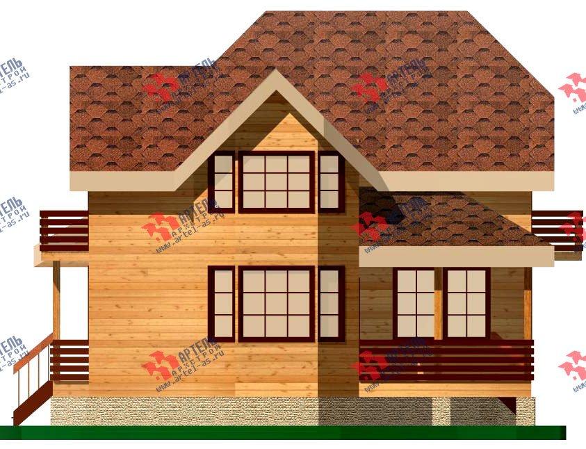 двухэтажный дом из бруса площадью от 100 до 150 кв. м. с  балконом, мансардой, эркером, проект Вариант 9.3 В фотография 1129