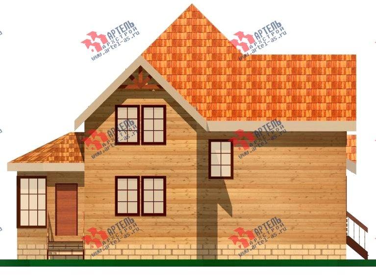 двухэтажный дом из бруса площадью от 150 до 200 кв. м. с  верандой, проект Вариант 8.6 А фотография 1158