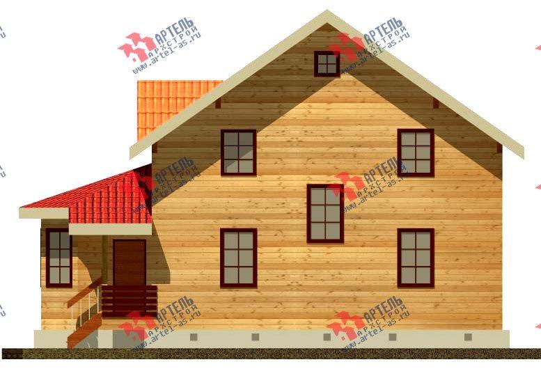 двухэтажный дом из бруса площадью от 150 до 200 кв. м. с  мансардой, эркером, проект Вариант 8.4 К фотография 1228