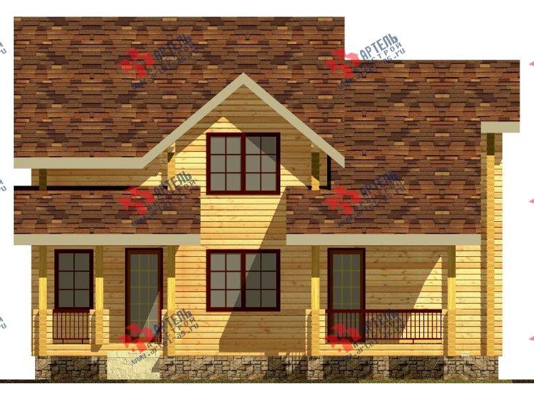 двухэтажный дом из профилированного бруса площадью свыше 200 кв. м. с  мансардой, проект Вариант 10.7 К фотография 111