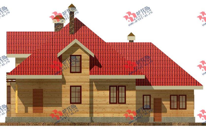 двухэтажный дом из бруса площадью свыше 200 кв. м. с  балконом, гаражом, мансардой, проект Вариант 12.1 А фотография 1411