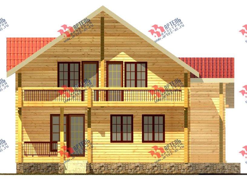 двухэтажный дом из бруса площадью свыше 200 кв. м. с  балконом, мансардой, проект Вариант 11.4 А фотография 122