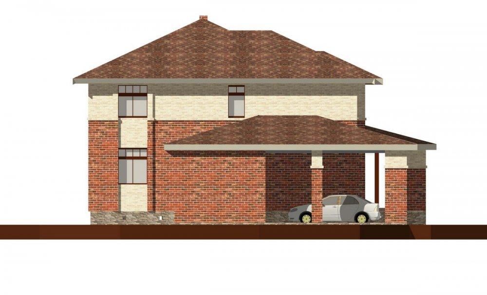 двухэтажный дом омбинированные дома площадью свыше 200 кв. м., проект Вариант 18,4А Камень и Комбинированный фотография 6063