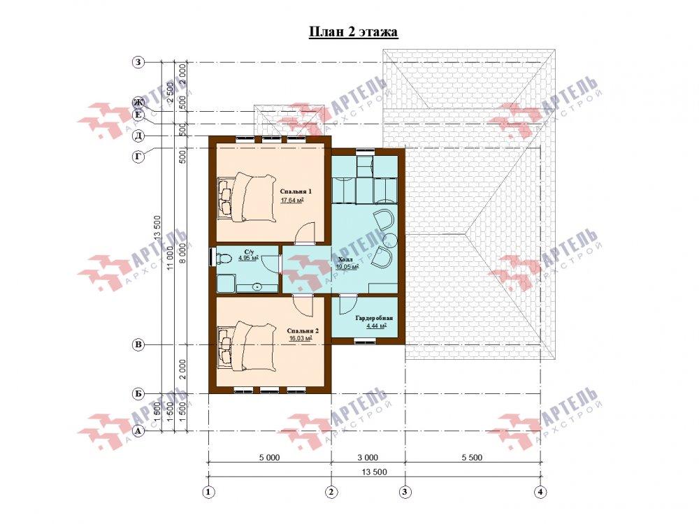 дом омбинированные дома площадью от 150 до 200 кв. м. с  мансардой, проект Вариант 13,5Б Камень и Комбинированный фотография 6128