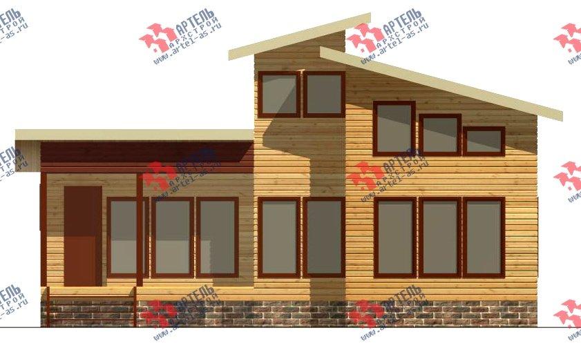 двухэтажный дом из бруса площадью до 100 кв. м. с  мансардой, проект Вариант 7 Л фотография 2163