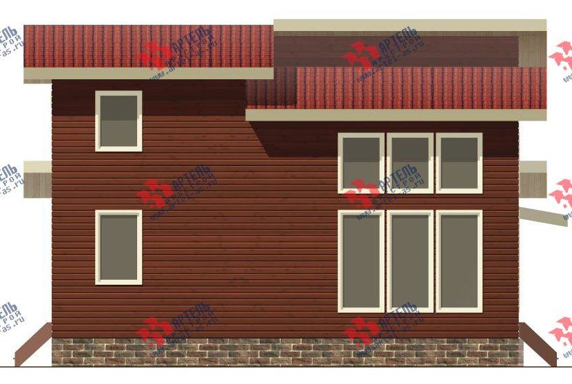 двухэтажный дом из бруса площадью от 150 до 200 кв. м. с  мансардой, проект Вариант 12.2 А фотография 2213