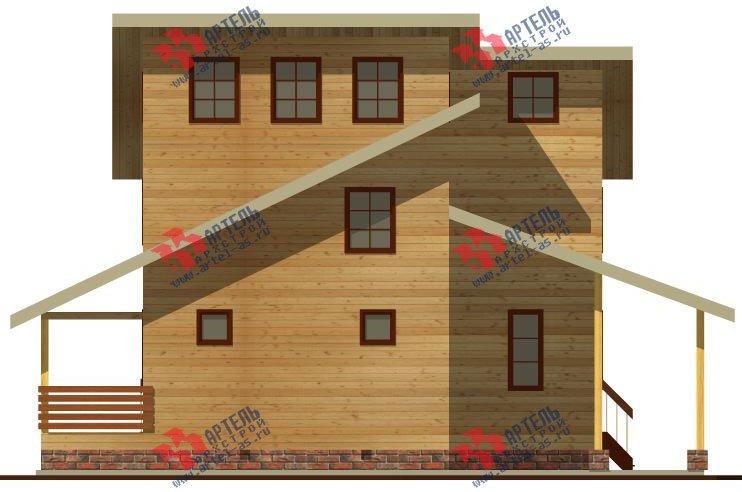 двухэтажный дом из бруса площадью от 150 до 200 кв. м. с  мансардой, террасой, проект Вариант 13 В фотография 2221
