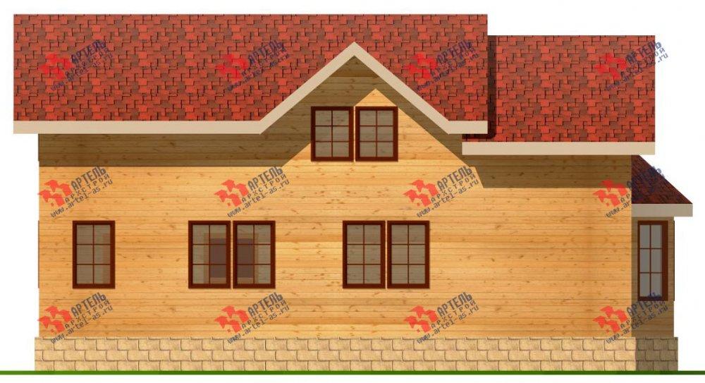 двухэтажный дом из бруса площадью от 150 до 200 кв. м. с  балконом, проект Вариант 6 О-1 фотография 2276