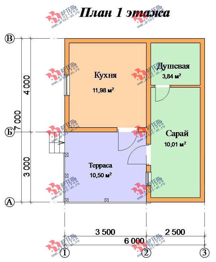 одноэтажный дом из профилированного бруса площадью до 100 кв. м., проект Вариант 6 фотография 2322