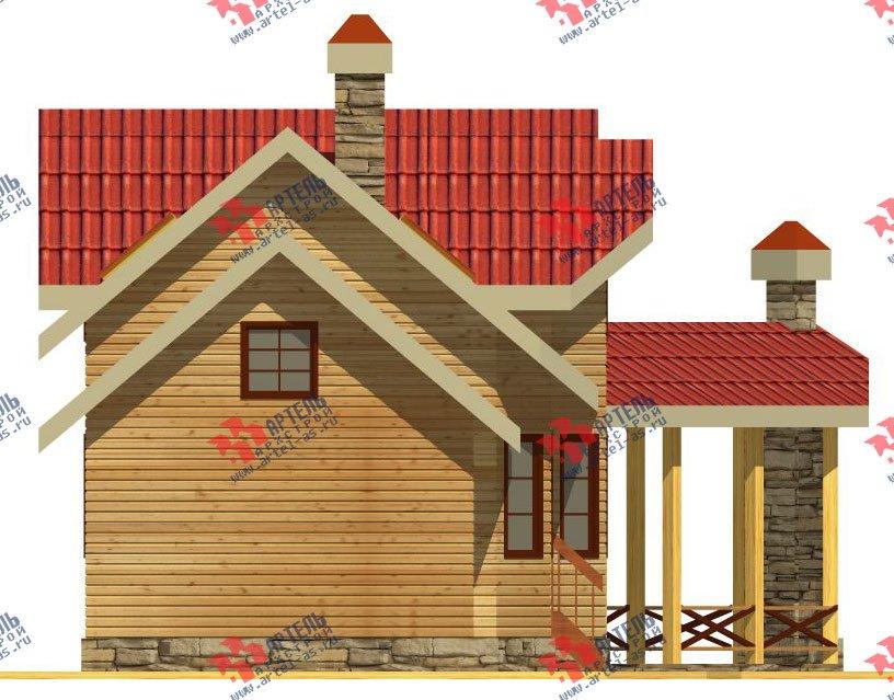 двухэтажный дом из профилированного бруса площадью от 100 до 150 кв. м. с  мансардой, террасой, эркером, проект Вариант 6.7 Б фотография 2477