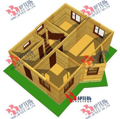 двухэтажный дом из бруса площадью до 100 кв. м. с  мансардой, эркером, проект Вариант 6 А фотография 669