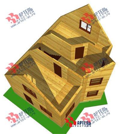 двухэтажный дом из бруса площадью до 100 кв. м. с  мансардой, эркером, проект Вариант 6 А фотография 670