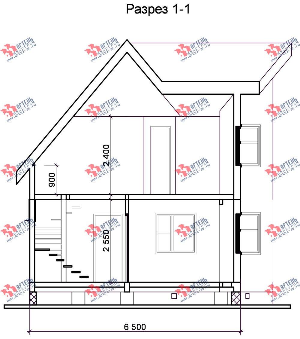 двухэтажный дом из бруса площадью до 100 кв. м. с  мансардой, эркером, проект Вариант 6 А фотография 676