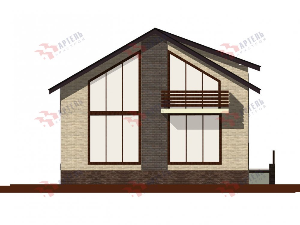 двухэтажный дом омбинированные дома площадью от 150 до 200 кв. м. с  балконом, проект Вариант 15 фотография 6435