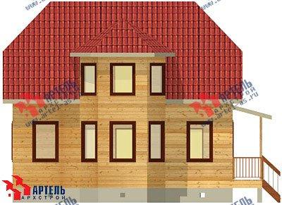 двухэтажный дом из бруса площадью от 100 до 150 кв. м. с  мансардой, эркером, проект Вариант 8 Б фотография 1176