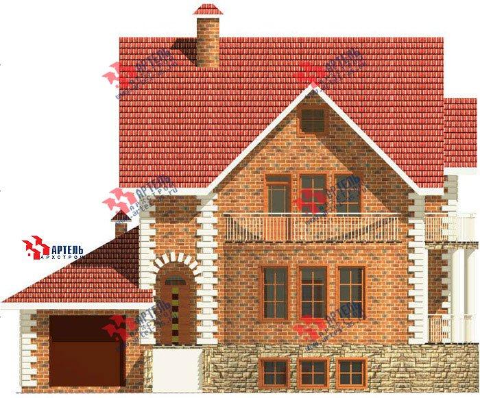 трёхэтажный дом из камня площадью свыше 200 кв. м. с  балконом, гаражом, террасой, эркером, проект Вариант 3 фотография 467
