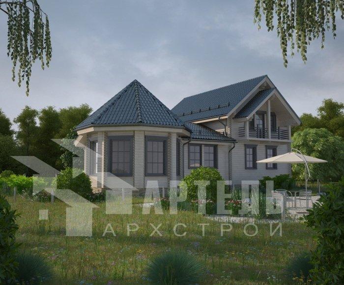 двухэтажный дом из профилированного бруса площадью от 150 до 200 кв. м. с  балконом, мансардой, эркером, проект Вариант 9 Е-1 фотография 4745