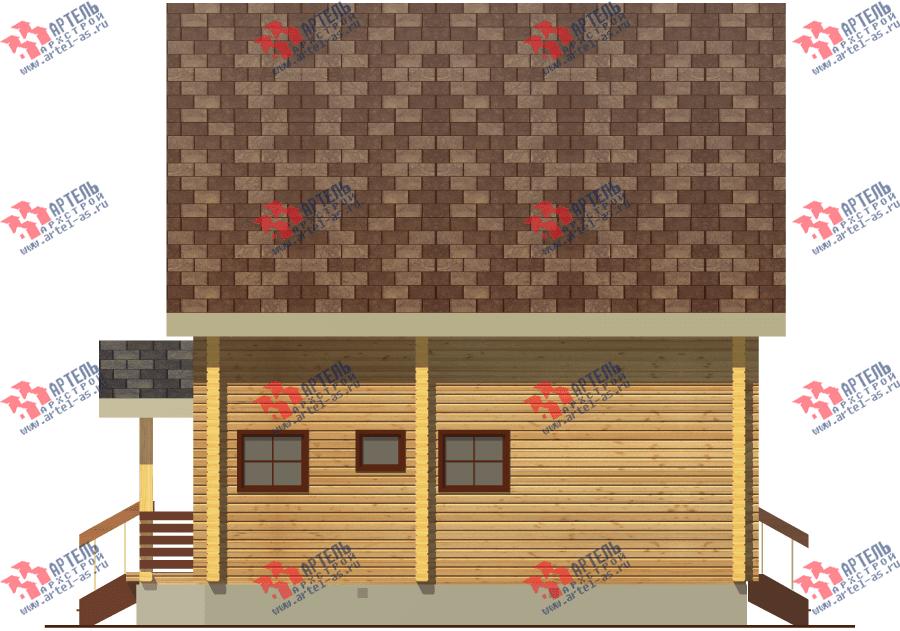 двухэтажный дом из бруса площадью от 100 до 150 кв. м. с  балконом, мансардой, проект Вариант 8 Ф фотография 3334