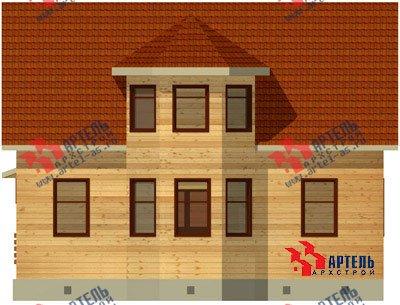 двухэтажный дом из бруса площадью от 100 до 150 кв. м. с  мансардой, террасой, эркером, проект Вариант 8.4 А фотография 955