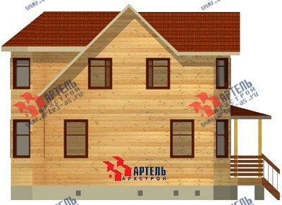 двухэтажный дом из бруса площадью от 100 до 150 кв. м. с  мансардой, террасой, эркером, проект Вариант 8.4 А фотография 956