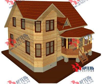 двухэтажный дом из бруса площадью от 100 до 150 кв. м. с  мансардой, террасой, эркером, проект Вариант 8.4 А фотография 954