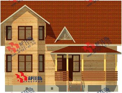 двухэтажный дом из бруса площадью от 100 до 150 кв. м. с  мансардой, террасой, эркером, проект Вариант 8.4 А фотография 957