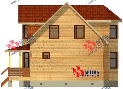 двухэтажный дом из бруса площадью от 100 до 150 кв. м. с  мансардой, террасой, эркером, проект Вариант 8.4 А фотография 958