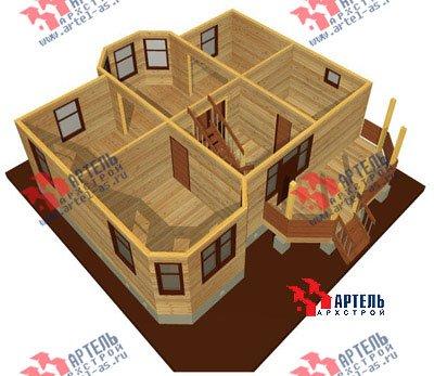 двухэтажный дом из бруса площадью от 100 до 150 кв. м. с  мансардой, террасой, эркером, проект Вариант 8.4 А фотография 960