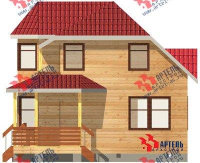 двухэтажный дом из профилированного бруса площадью от 100 до 150 кв. м. с  балконом, мансардой, эркером, проект Вариант 8 Л фотография 1074