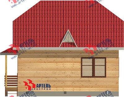 двухэтажный дом из профилированного бруса площадью от 100 до 150 кв. м. с  балконом, мансардой, эркером, проект Вариант 8 Л фотография 1075