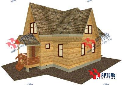 двухэтажный дом из бруса площадью от 150 до 200 кв. м. с  мансардой, террасой, проект Вариант 9.6 Б фотография 1238