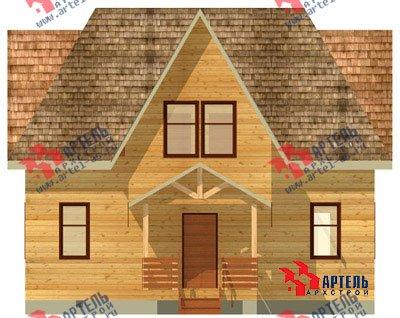 двухэтажный дом из бруса площадью от 150 до 200 кв. м. с  мансардой, террасой, проект Вариант 9.6 Б фотография 1241