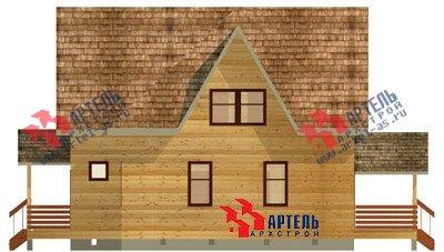 двухэтажный дом из бруса площадью от 150 до 200 кв. м. с  мансардой, террасой, проект Вариант 9.6 Б фотография 1242