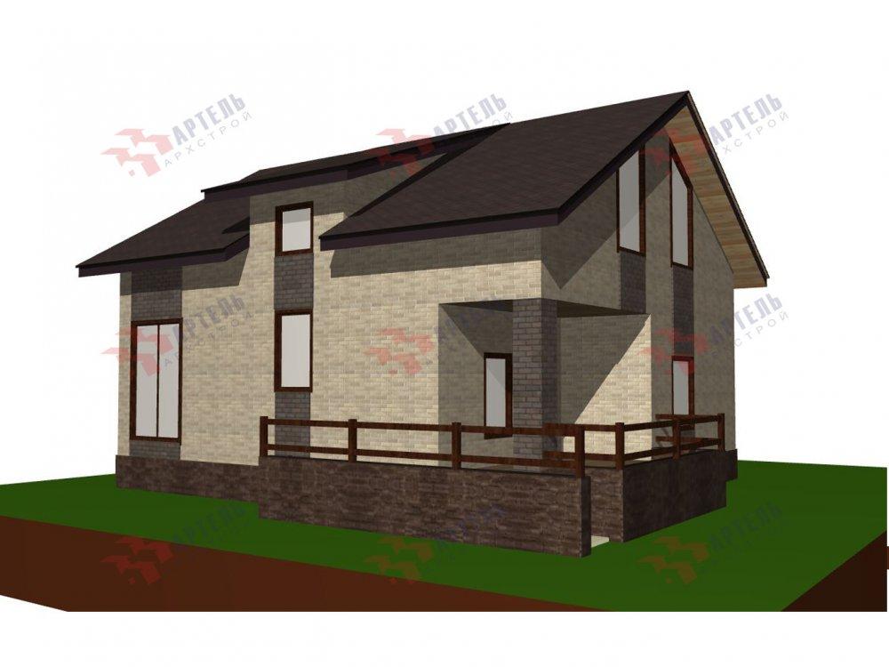 двухэтажный дом омбинированные дома площадью от 150 до 200 кв. м. с  балконом, проект Вариант 15 фотография 6434