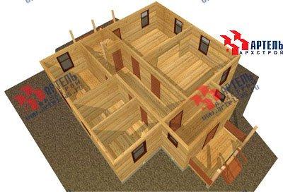 двухэтажный дом из бруса площадью от 150 до 200 кв. м. с  мансардой, террасой, проект Вариант 9.6 Б фотография 1243