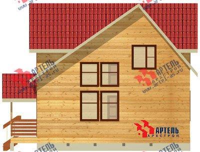 двухэтажный дом из бруса площадью от 100 до 150 кв. м. с  мансардой, проект Вариант 8 Л-1 фотография 1083