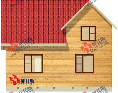 двухэтажный дом из бруса площадью от 100 до 150 кв. м. с  мансардой, проект Вариант 8 Л-1 фотография 1084