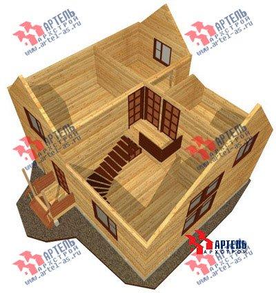 двухэтажный дом из бруса площадью от 100 до 150 кв. м. с  мансардой, проект Вариант 8 Л-1 фотография 1088