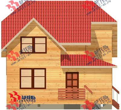 двухэтажный дом из бруса площадью от 100 до 150 кв. м. с  мансардой, проект Вариант 8 Н фотография 1100