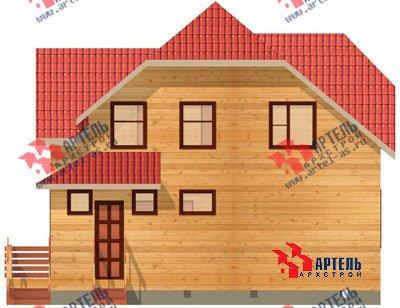 двухэтажный дом из бруса площадью от 100 до 150 кв. м. с  мансардой, проект Вариант 8 Н фотография 1101