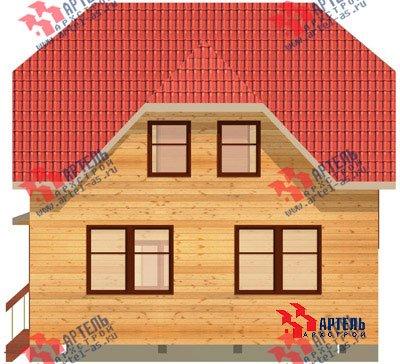 двухэтажный дом из бруса площадью от 100 до 150 кв. м. с  мансардой, проект Вариант 8 Н фотография 1102
