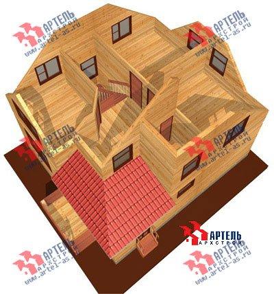 двухэтажный дом из бруса площадью от 100 до 150 кв. м. с  мансардой, проект Вариант 8 Н фотография 1104
