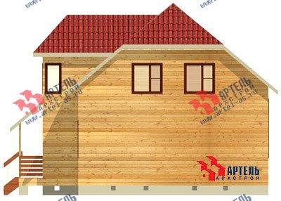 двухэтажный дом из бруса площадью от 100 до 150 кв. м. с  мансардой, эркером, проект Вариант 8 Д фотография 1006